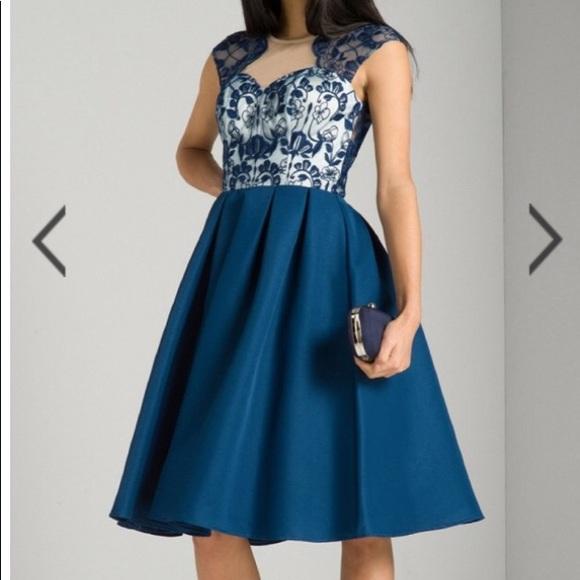 00fe26f7 chi chi london Dresses   Antonia Navy Lace Dress Size 6   Poshmark